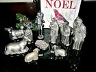 VINTAGE PEWTER NATIVITY SET 12 PIECES Beautiful Condition 4 in