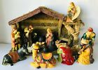 Large Nativity Crche Christmas Scene Holy Family 3 Kings Shepherd Angel Animals