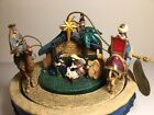 Thomas Kinkade Peace on Earth Blessed Nativity Rotating Christmas Ornament 2006