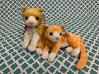 TY Beanie Babies: TANGLES & TABS the Orange Cats! MWMT!