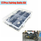 177x Motorcycle Fairing Bolts Fasteners Clips Kit for Suzuki Ducati Harley BMW