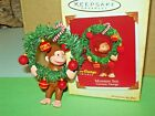 Hallmark Monkey See Curious George Christmas Wreath 2004 Ornament