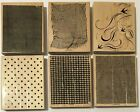 YOU PICK Stampin Up Rubber Stamp Backgrounds Cheesecloth Canvas Denimetc