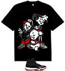 New Black Red Bebe Kids 1 bloodline shirt to match air Jordan 11 Retro bred