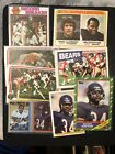 (8) WALTER PAYTON Topps & Fleer Card Lot 1978 1979 1980 1986 1987 ALL DIFFERENT