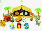 Christmas Story Nativity Manger Scene Little People Fisher Price 18 Pcs Musical