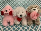 TY Beanie Babies: PUP-IN-LOVE, LOVEYPUP & SNOOKUMS Valentines Dogs! MWMT!