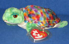 TY ZOOM the TURTLE  BEANIE BABY - RAINBOW COLORS MINT / TAGS