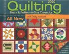 Quilting Block and Pattern a Day 2020 Calendar Paperback by Kratovil Debby