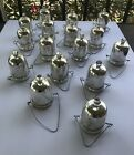 Mercury Glass Hanging Tea light votive Holders Lot of 15