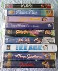Childrens Classics Lot of 9 VHS Disney Pinocchio Mulan Belles brand new