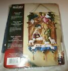 Bucilla Nativity Manger Felt Embroidery Christmas Wall Hanging Kit 85331