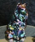 Mosser Glass Collie Puppy Dog Ruby Carnival Figurine