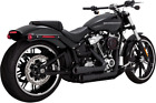 Vance  Hines Black Mini Grenade Exhaust for 18 19 Harley Softail Fat Boy