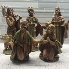 Vintage Nativity Set 5 Figures Italy Three King Mary Shepherd 5 7