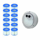 Intex PureSpa Light for Bubble Spa Hot Tub + S1 Replacement Cartridges 12 Pack
