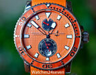 Ulysse Nardin Maxi Marine Diver Chronometer Orange Dial 43mm B&P, RETAIL $7,8000