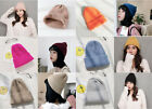 Winter Cap Knit Beanie Hat Ski Men Slouchy Solid Warm Skull Plain Cuff Women Wom