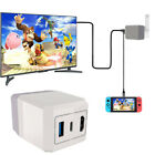 Portable 2in1 TV Switch HDMI Converter Charging Dock Adapter For Nintendo Switch