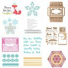 Snowflake Lace Pattern Frame Cutting Dies and Hot Foil Plate Scrapbooking Crafts