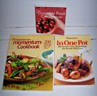 Lot 3 Weight Watchers books Food Companion Momentum In One Pot Cookbook recipes