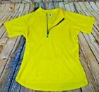 Cycling Road Jersey Bellwether Mens Medium Short Sleeve Yellow Vintage Made USA