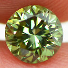 Loose Green Diamond Round Shaped Certified Fancy Color Enhanced 080 Carat VS2