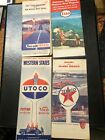 FOUR Vintage  Gas Station Road Maps Lot2 CARS GAS PUMPS OIL SIGNS TEXACO