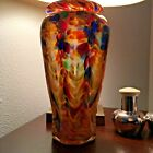 Beautiful blown art studio glass vase signed by artist