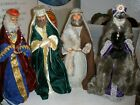 Lot of 4 Handmade Large Nativity Figures 20 Joseph  3 Wisemen