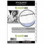 AT A GLANCE 2020 Monthly Planner Refill Day Runner 5 1 2 x 8 1 2