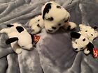 Ace Large Beanie Baby and his puppies spot and Dottie EXTREMLEY RARE!!!