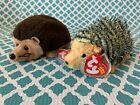 TY Beanie Babies: CHUCKLES & PRICKLES the HEDGEHOGS! MWMT!