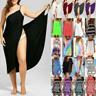 Women Boho Beach Bikini Cover Up Summer Mini Short Dress Tunic Top Sarongs Shirt