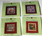LOT of 4 Mill Hill BUTTONS  BEADS SPRING SERIES Beaded Cross Stitch KITS 2014
