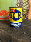VINTAGE SUNOCO HD DYNALUBE MOTOR OIL 1 ONE QUART CAN GAS STATION SIGN SUN OIL