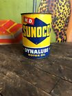 VINTAGE 1952 SUNOCO HD DYNALUBE MOTOR OIL 1 ONE QUART CAN GAS STATION SIGN SUN