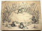 Rare House Mouse A CHERISHED ROCK Mice Stampa Rosa Wood Rubber Stamp