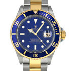 Rolex 16613 Y Serial Submariner Date Gold & Steel Blue Dial Sub SEL Holes Case