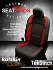 Katzkin Leather Seat Covers 18-20 Jeep Wrangler Jl Sahara Rubicon Black Red Tek