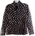 Damee Inc Size MBlack Twin Set with Animal Print Satin Ribbon New Collection