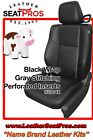 Katzkin Leather Seat Covers Kit 2015-2020 Dodge Challenger Black Gray Stitching