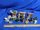 Antique 16pc Chalkware Nativity Set Scene Baby Jesus Xmas Rare Old VTG
