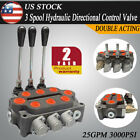 3Spool Hydraulic Control Valve Double Acting 25GPM Double Acting Cylinder Spool