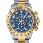 Rolex 116523 Z Daytona Blue Arabic Racing Cosmograph Swiss Automatic Chronograph