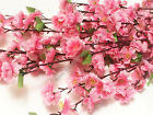 12 PACK 48 Long Stem Artificial Realistic Silk PINK Cherry Blossom Flowers