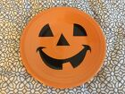 Fiestaware Luncheon Plate - Pumpkin Happy Face, Fiesta, Halloween, Dessert