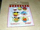 Disney  CUPCAKE STYLES MICKEY  FRIENDS  New in Package 7 Pin Booster Set