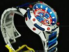 Invicta 39mm Limited Edition Marvel Captain America Bolt Chron Red Blue SS Watch
