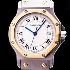 CARTIER SANTOS RONDE STAHL/ GOLD DATE MEDIUM